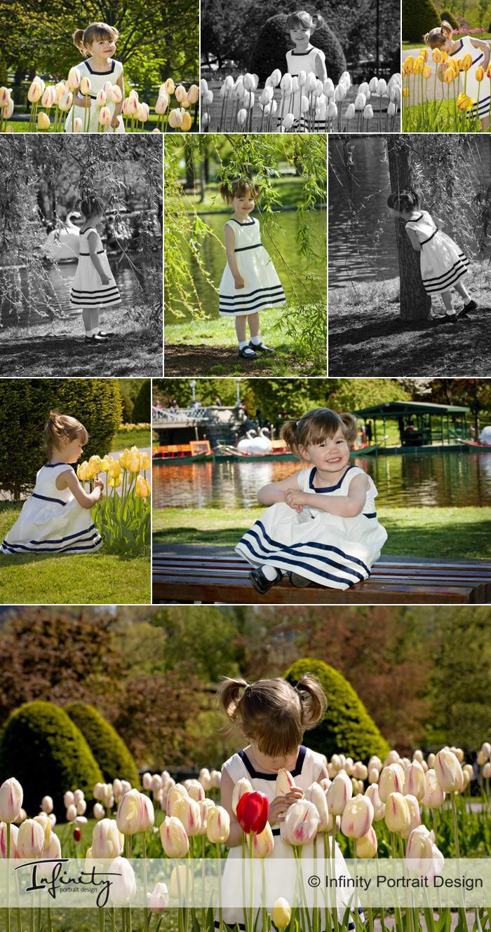 Spring Portrait Sessions in the Boston Public Garden
